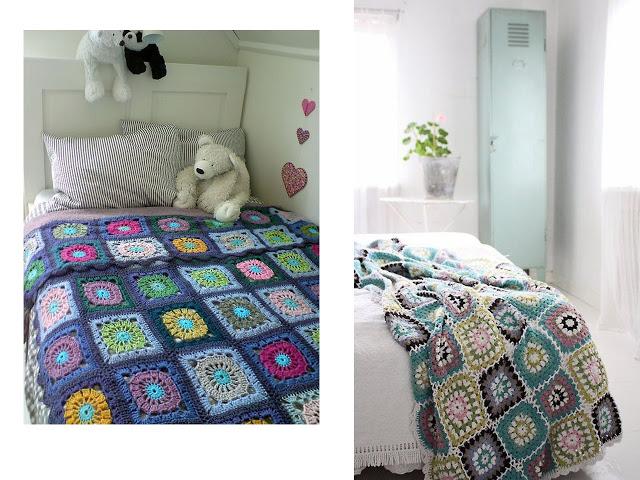 manta tejida crochet 48 - Pie de cama para acurrucarse en la cama o en el sillón!