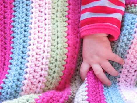 IMG 1114 - Manta a rayas colores suaves