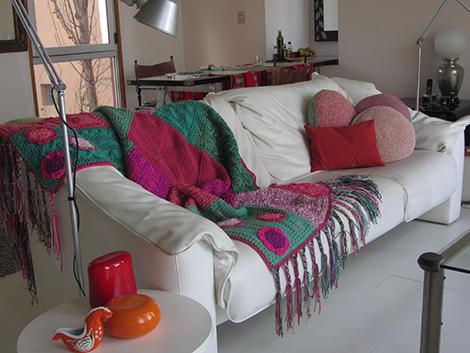 IMG 3700 - Pie de cama con flecos