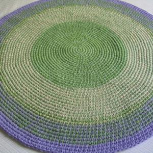 alfombra lila verde3 2 300x300 - Alfombra redonda