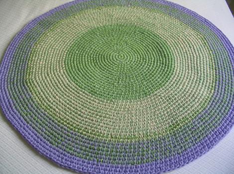 alfombra lila verde3 2 - Alfombra redonda