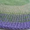 alfombra lila verde4 100x100 - Alfombra redonda