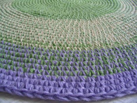 alfombra lila verde4 - Diseños personalizados. Queres tu alfombra a medida?