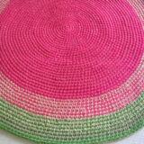 alfombra rosayverde 160x160 - Alfombra redonda