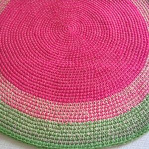 alfombra rosayverde 300x300 - Alfombra redonda