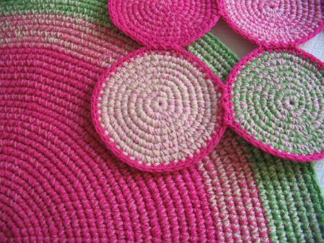 alfombra rosayverde3 - Diseños personalizados. Queres tu alfombra a medida?
