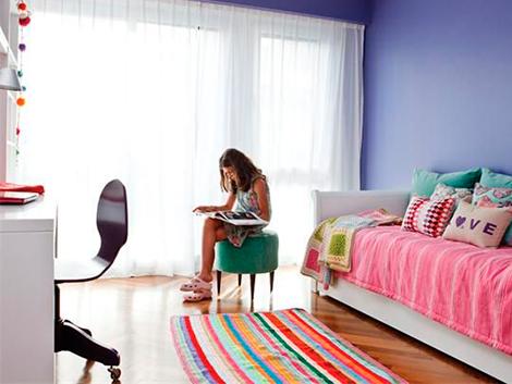 alfombras cuadradas 1 - Alfombra cuadrada a rayas