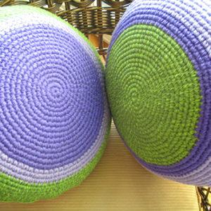 crochet almohadon.3 300x300 - Almohadón redondo