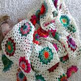 manta crochet cuadrados medianos 160x160 - Manta cuadrado mediano