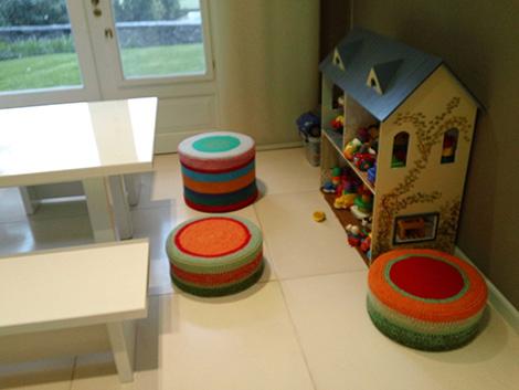 puff tejidos playroom 1 - Puff bajo