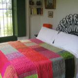 tejidos crochet PUERTA AL SUR 160x160 - Manta a bandas