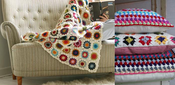 crochet blanket PUERTA AL SUR. - Mantas tejidas a crochet para abrigarse en la cama... DECO IDEAS.