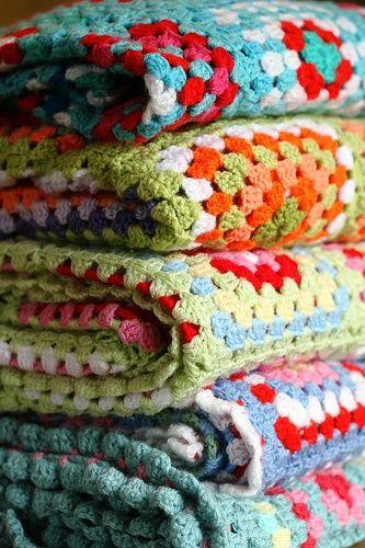 mantas tejidas crochet - Mantas tejidas a crochet en el dormitorio