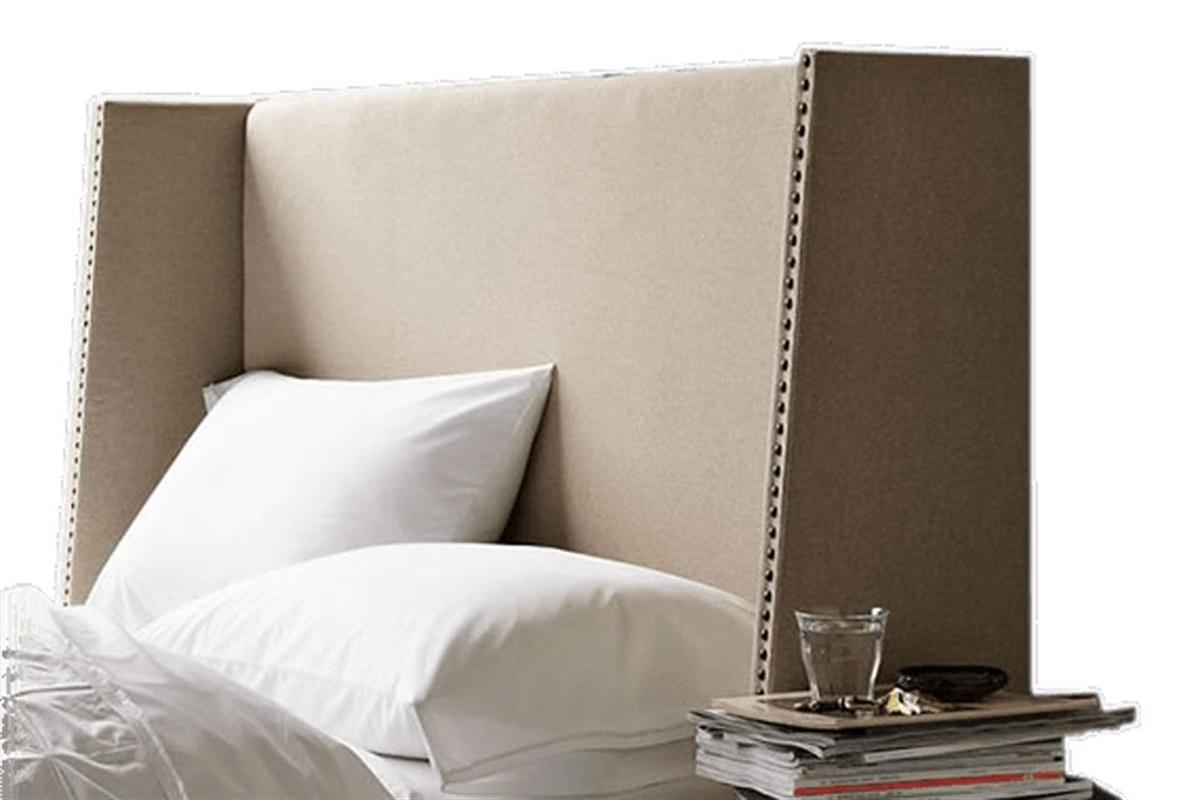 respaldo cama gris - Respaldos de cama para vestir tu dormitorio
