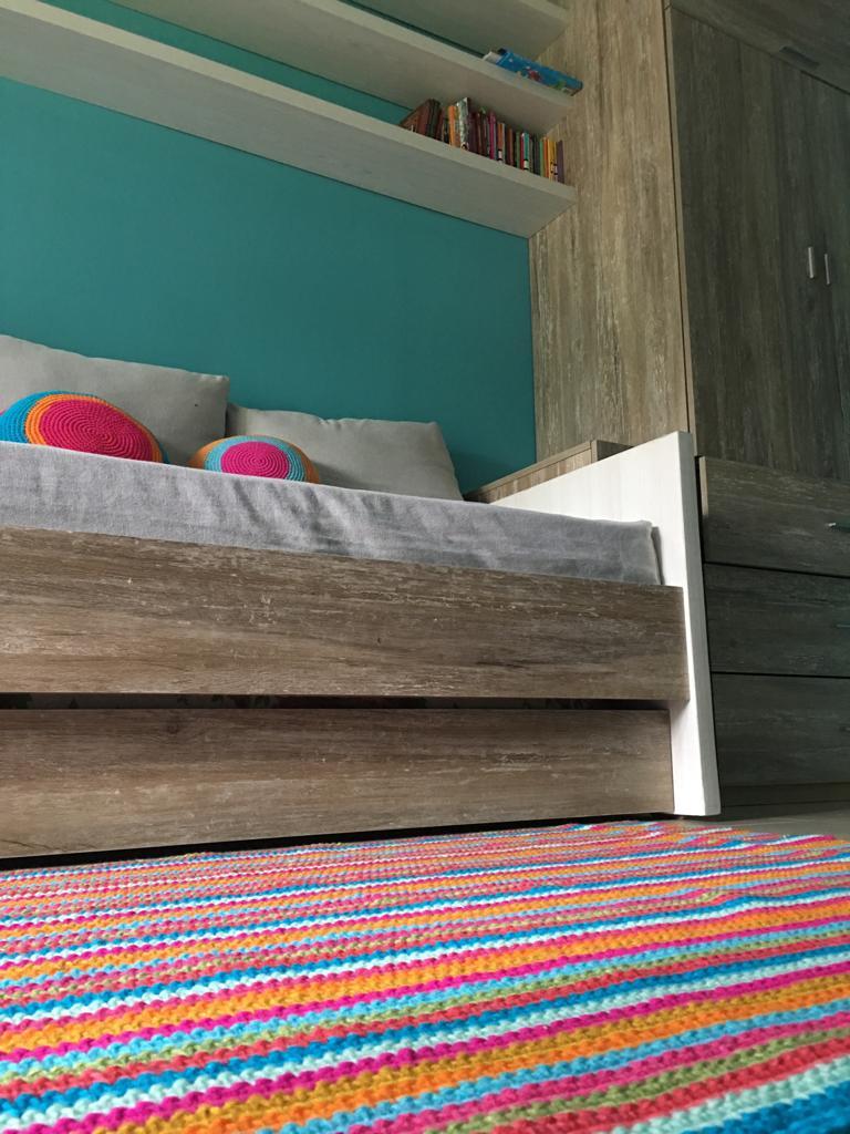 alfombra rayas crochet.lana  - Tu alfombra en pocos pasos