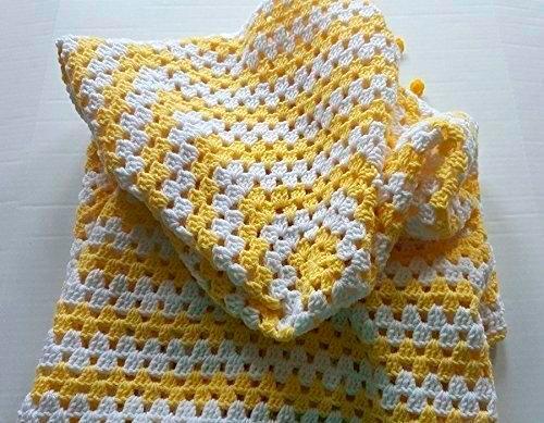 manta bebe amarilla crochet - Qué tejer cuando aún no sabes el sexo del bebé