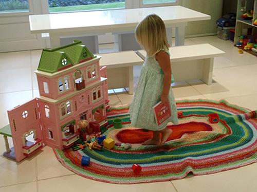alfombra PUERTA AL SUR - Habitacion infantil. Alfombras lavables tejidas a medida